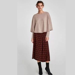 Zara Mauve Poncho Sweater